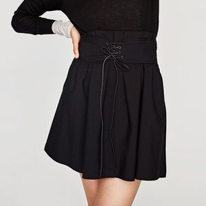 Zara Corset Mini Skirt